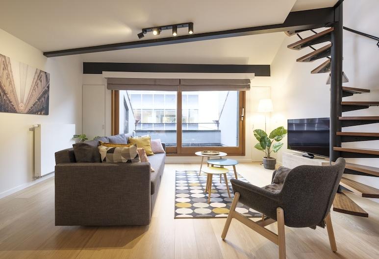 Chez Jane, Brussel, Deluxe appartement, Woonkamer
