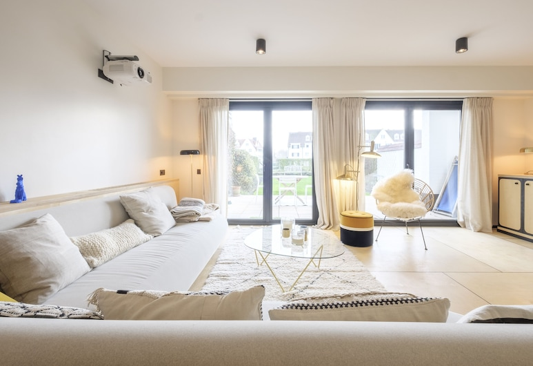Sea Me If You Can, Knokke-Heist, Deluxe-Apartment, Wohnzimmer