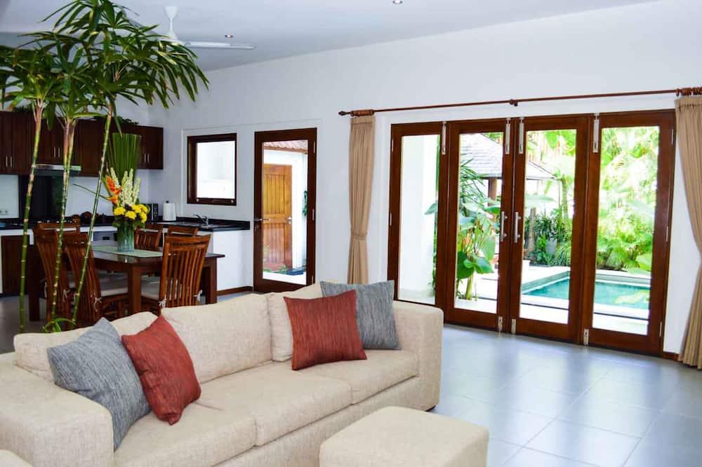 Vila typu Exclusive, 3 ložnice, soukromý bazén - Obývací prostor