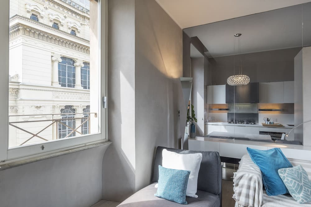 Apartament, 3 sypialnie, widok na miasto - Powierzchnia mieszkalna