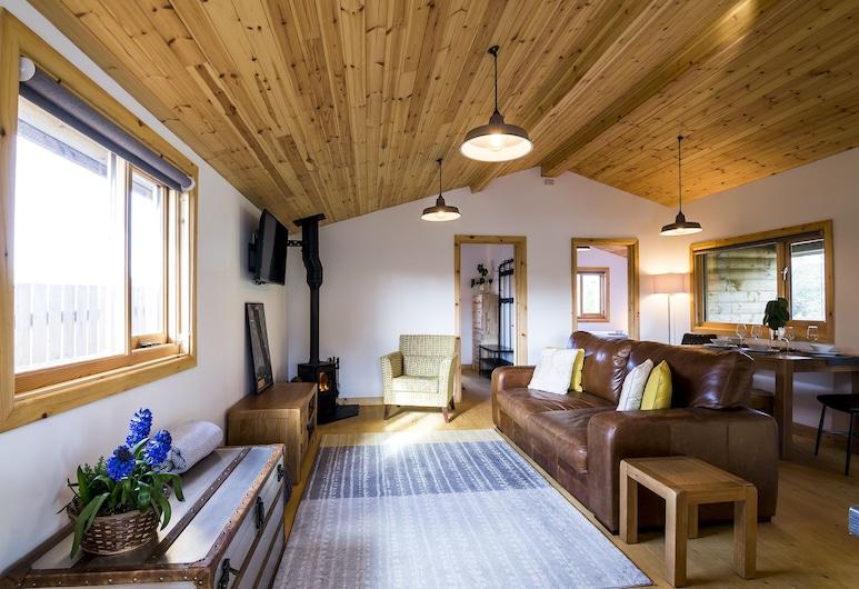 Laurel Lodge 2 Bedroom, Tenby, ดีลักซ์เคบิน, พื้นที่นั่งเล่น