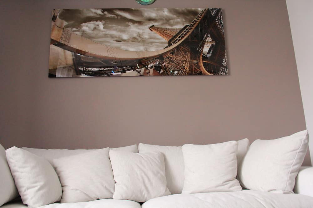 Leilighet – deluxe, privat bad, utsikt mot byen (Luxe) - Lounge
