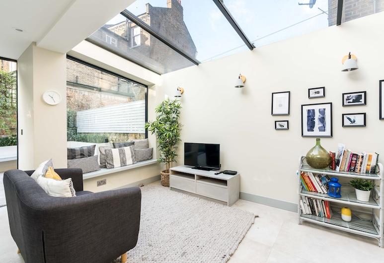 NEW Cosy & Sleek 2BD Flat In Vibrant West Kilburn, Londres, Appartement (2 Bedrooms), Salle de séjour