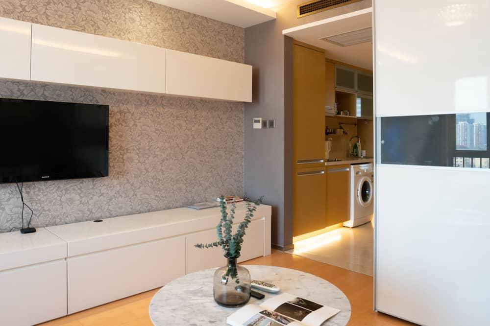 Apartamentai, 1 standartinė dvigulė lova - Svetainės zona