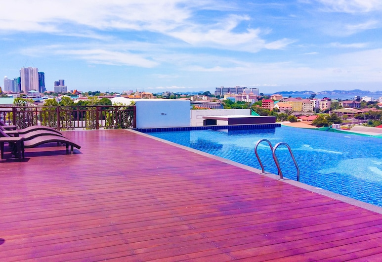 Vareena Palace Hotel, Pattaya, Rooftop Pool
