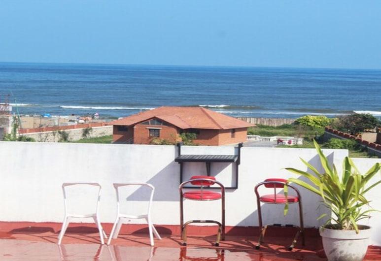 Kolam Elliots Beach, Chennai, Zimmer, 1 Queen-Bett, Balkon, Strandblick, Terrasse/Patio