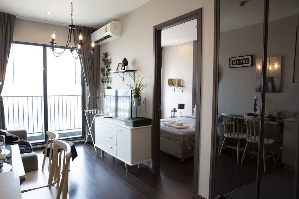 Apartamentai su patogumais, 1 miegamasis - Svetainės zona