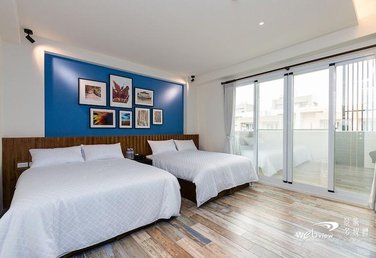 台東巷弄民宿, 台東, 經典四人房, 2 張加大雙人床, 客房