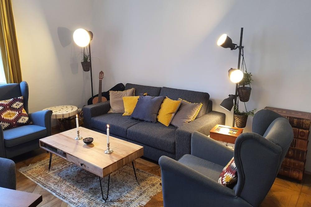 חדר זוגי, חדר רחצה משותף - סלון