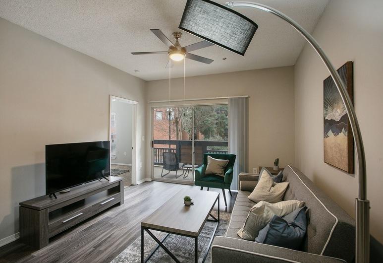The Luxe Suites of North Atlanta, Atlanta, Deluxe-íbúð - 2 svefnherbergi, Stofa