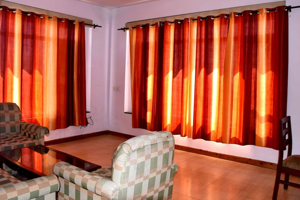 Семейная вилла, 1 спальня, вид на горы, первый этаж - Зона гостиной