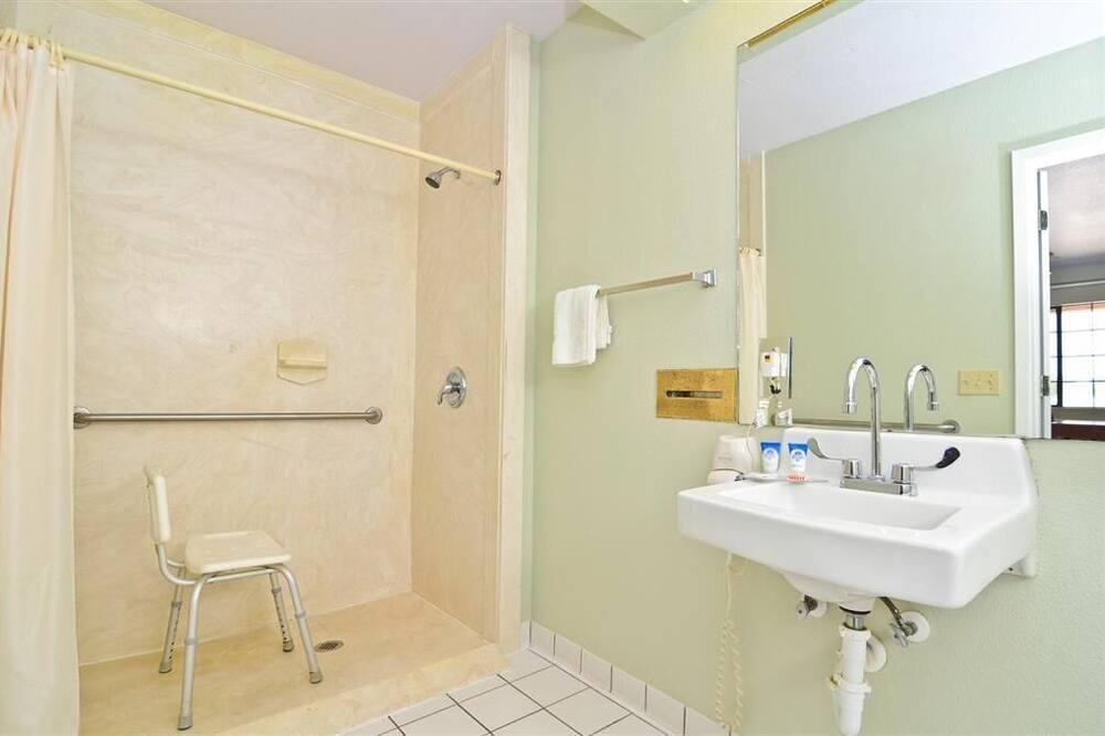 標準單人房, 1 張加大雙人床, 無障礙, 非吸煙房 - 浴室洗手台