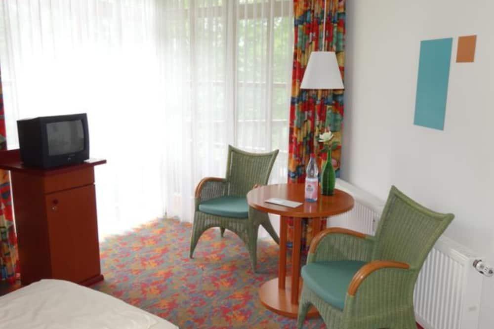 Apartamentai, 1 standartinė dvigulė lova, virtuvėlė (Typ D) - Svetainės zona