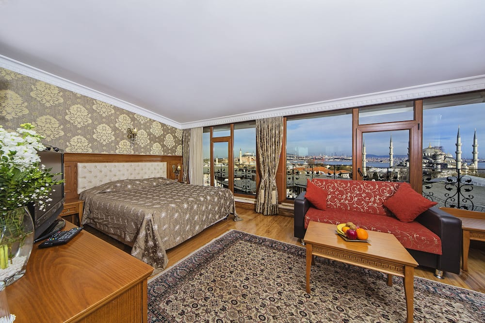 King Suite with Blue Mosque & Haghia Sophia View - Obývací prostor