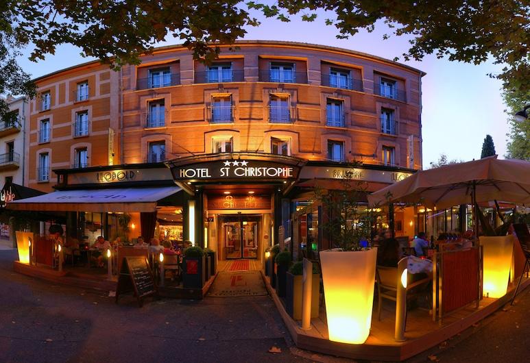 Hotel Saint Christophe, Aix-en-Provence, Pohľad na hotel – večer/v noci