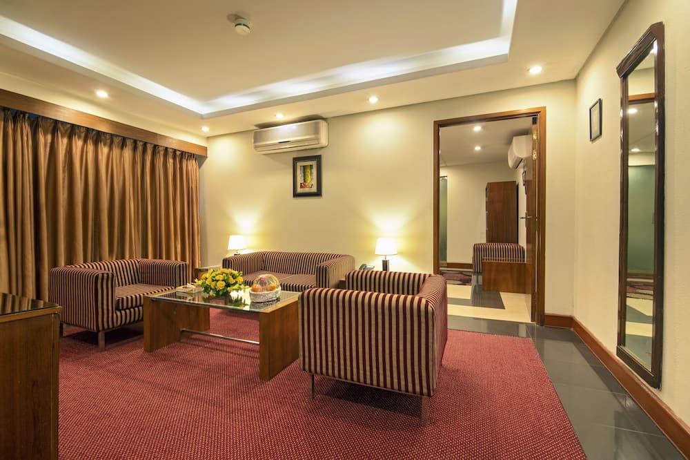 Liukso klasės numeris, 1 labai didelė dvigulė lova, atskiras vonios kambarys - Svetainės zona