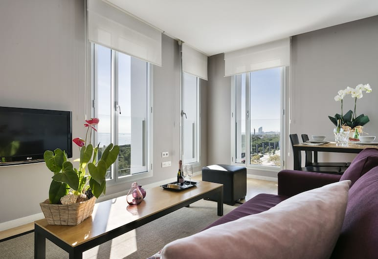 Lugaris Beach - Apartments, Barcelona, Business Apartment, Sea View, Living Room