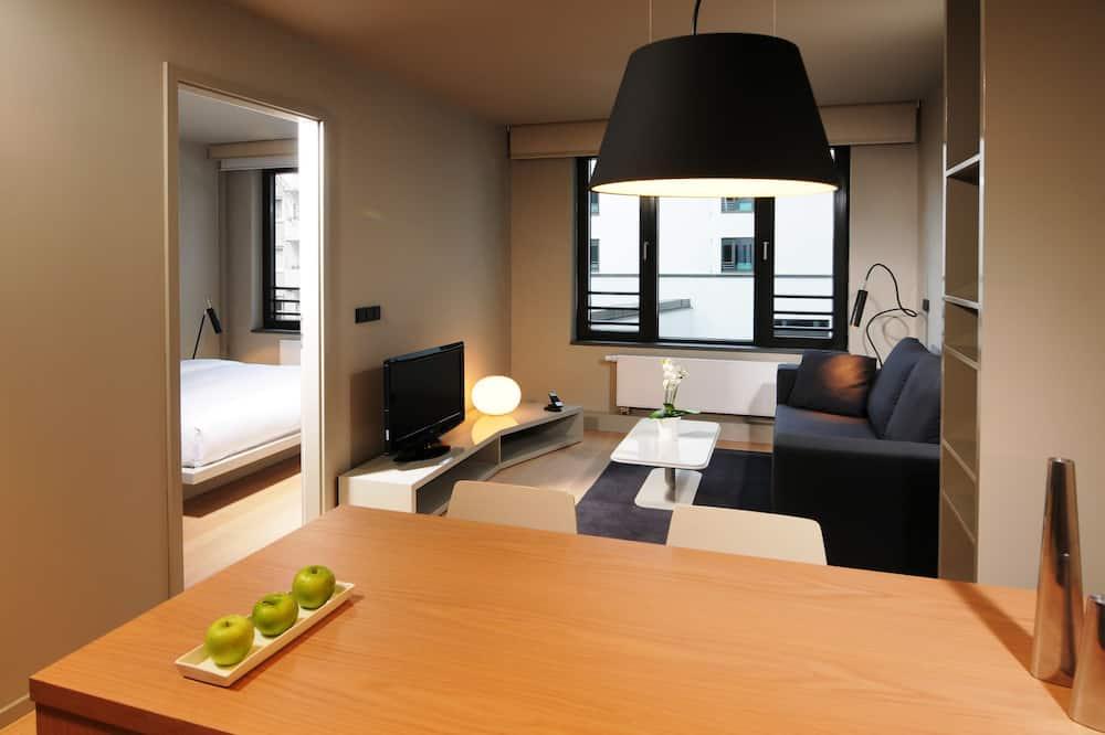 Leilighet, 1 soverom, kjøkken (33qm - with small sofa bed) - Stue