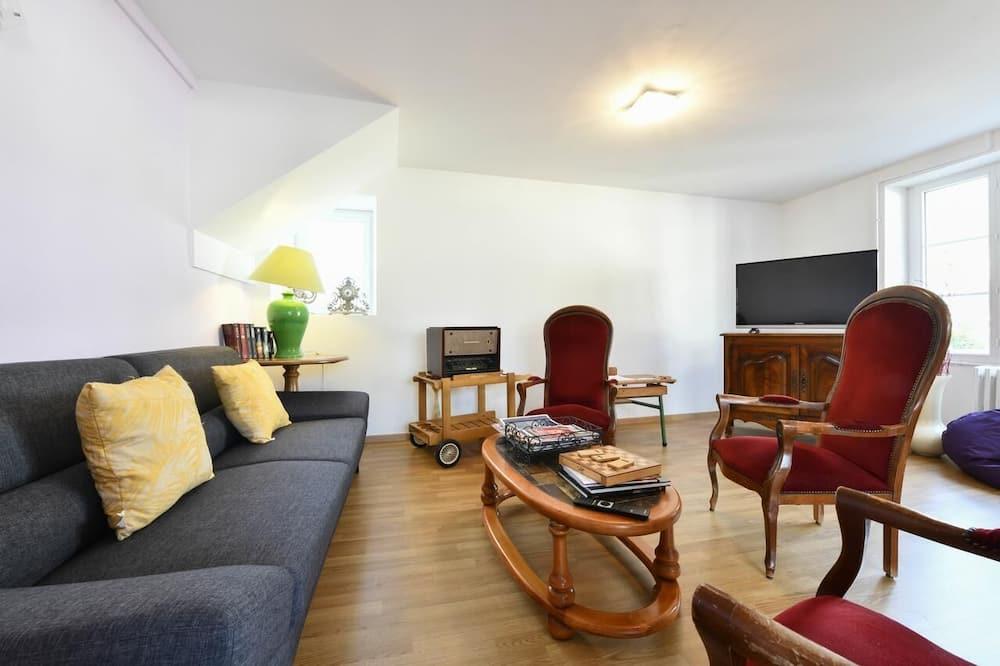Vienvietis kambarys su patogumais - Svetainės zona