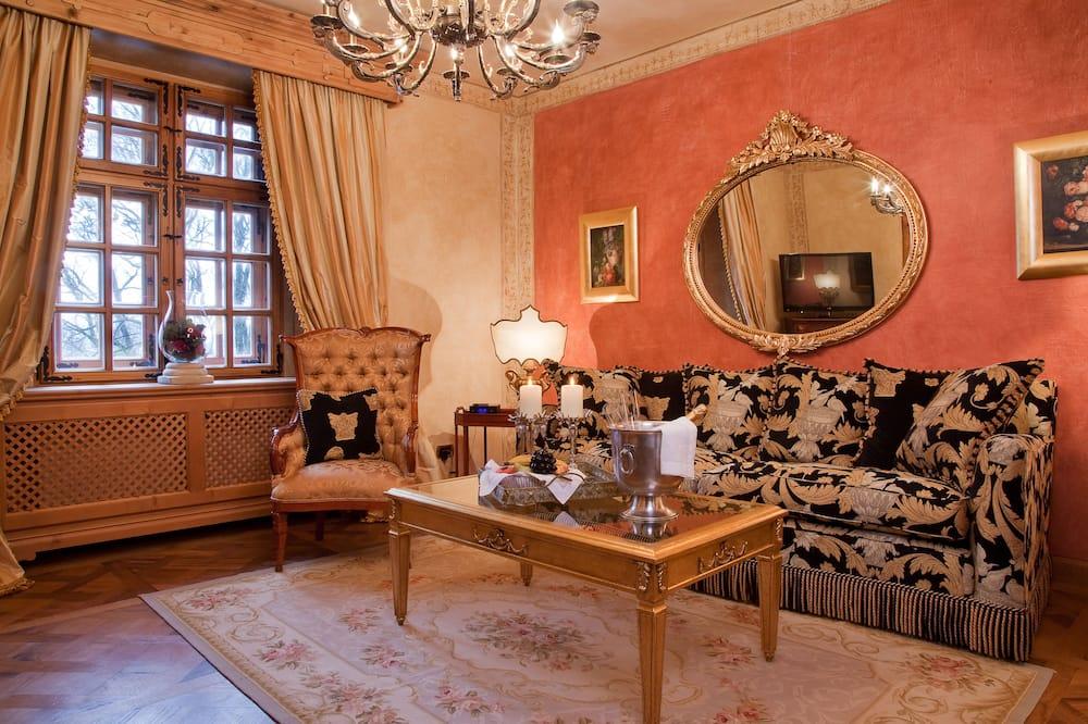 Deluxe-Suite, Parkblick - Wohnzimmer