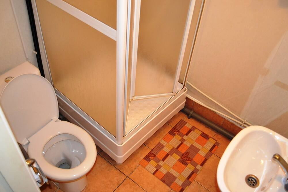 Standard szoba két külön ággyal - Zuhanyozó a fürdőszobában