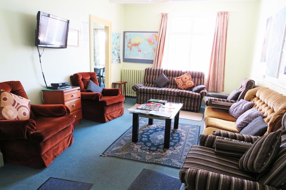 經濟小屋, 1 張標準雙人床, 共用浴室 - 客廳