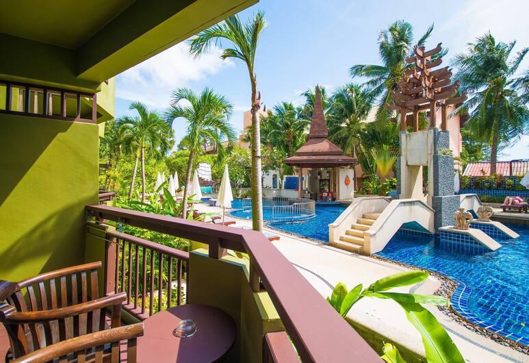 Phuket Island View Hotel, Karon, Pokoj typu Superior, výhled na bazén, Balkón