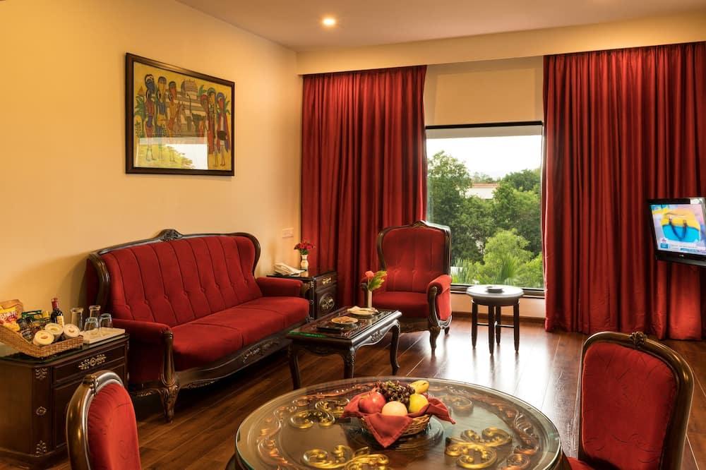 Presidential-Suite, Badewanne - Wohnzimmer