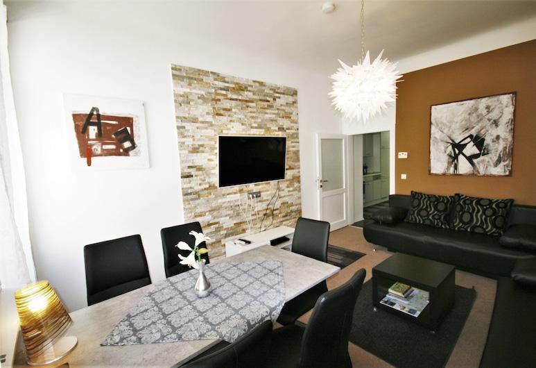 ウィーン シティアパートメンツ - プレミアム アパートメント ウィーン 2, ウィーン, Apartment for 6 people, リビング ルーム