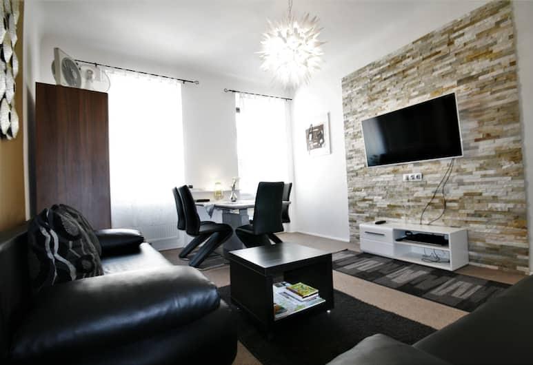 Vienna CityApartments - Premium Apartment Vienna 2, Viedeň, Apartment for 6 people, Obývačka