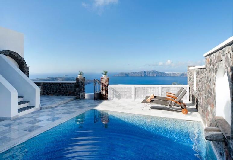 Vallas Apartments & Villas, Santorini, Villa Deluxe, Piscina privada