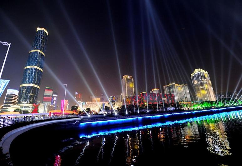 廣州她他服務公寓 (匯峰公寓), 廣州市, 住宿正面 - 夜景