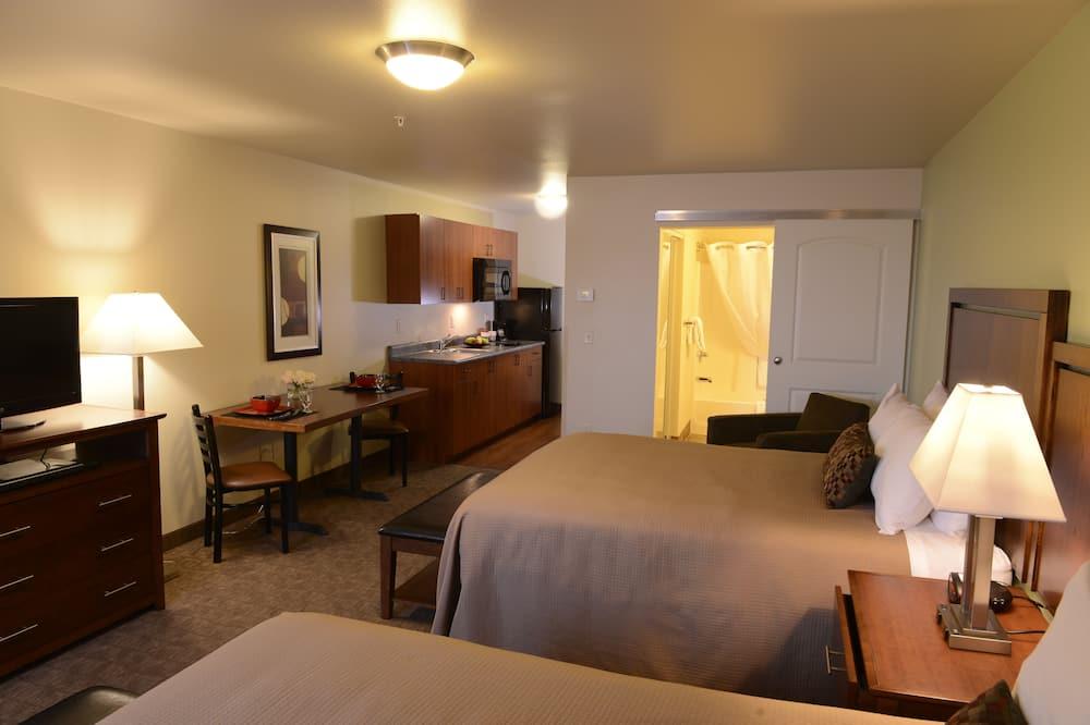 جناح إستديو ديلوكس - سريران كبيران - غرفة معيشة