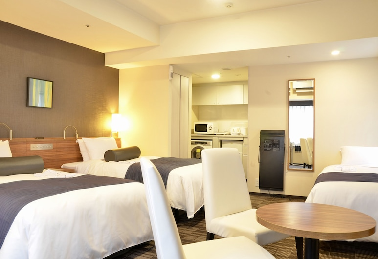 Tokyu Stay Nishi-Shinjuku, Tokyo, Twin Room B Non Smoking with extra bed,34sqm, 100cm Bed width, Guest Room
