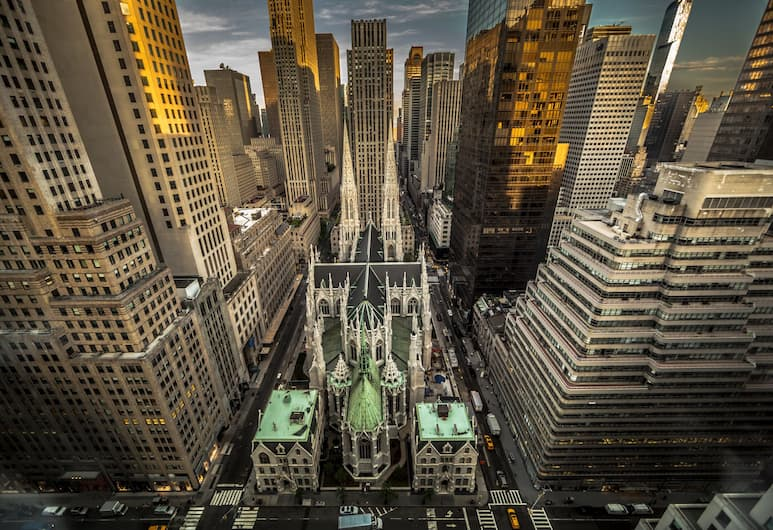 The Towers at Lotte New York Palace, New York, Svit Executive - 1 kingsize-säng - torn, Utsikt från gästrum