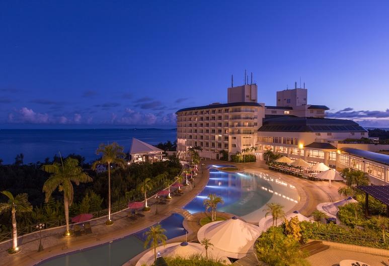 沖縄 かりゆし ビーチリゾート オーシャンスパ, 国頭郡, オーシャンタワー 低層階, バルコニーからの眺望