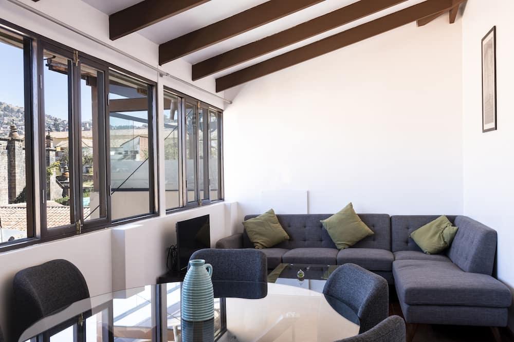Apartmán typu City, 1 extra veľké dvojlôžko - Obývacie priestory