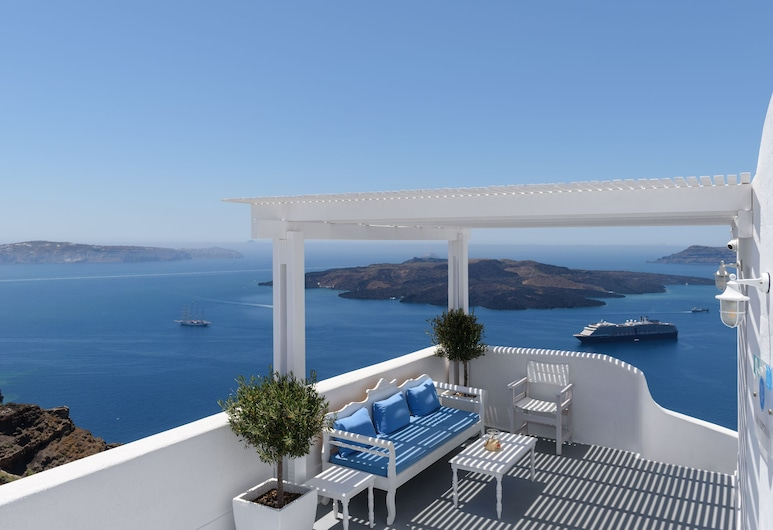 Kamares Apartments, Santorini, Terrace/Patio