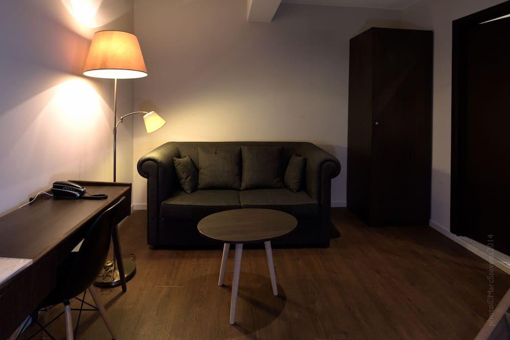 Enkeltværelse (Grand-Place View) - Opholdsområde