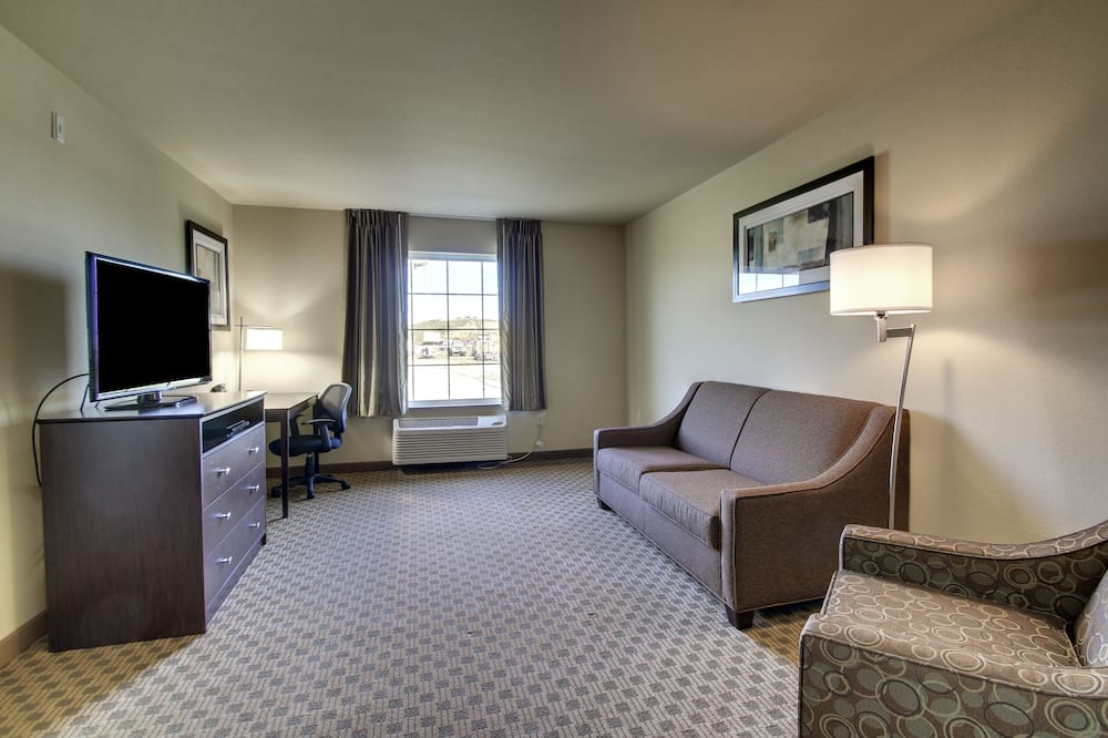 Люкс, Несколько кроватей, для людей с ограниченными возможностями, для некурящих - Зона гостиной