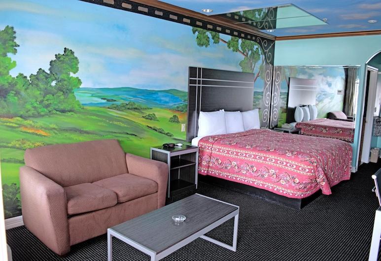 Scottish Inn & Suites, Houston, Standartinio tipo kambarys, 1 labai didelė dvigulė lova, Rūkantiesiems, Svečių kambarys
