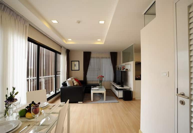 Baan K Residence by Bliston, Bangkok, Executive Room, 1 Bedroom, Living Room