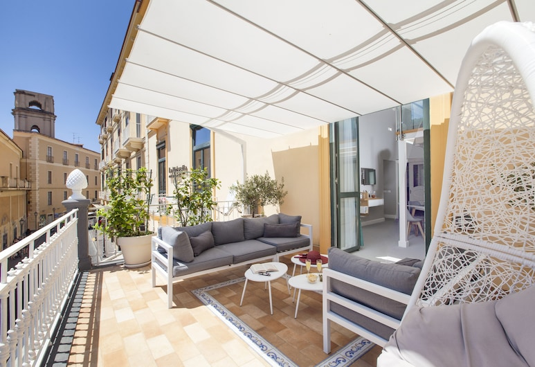 La Piazzetta Guest House, סורנטו, דירת סופריור, מרפסת/פטיו