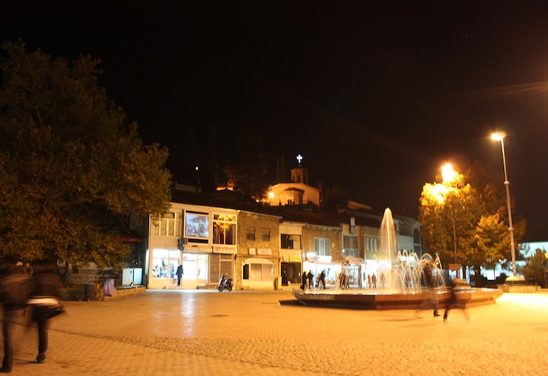 Luccia Apartments, Ohrid, Front of property - evening