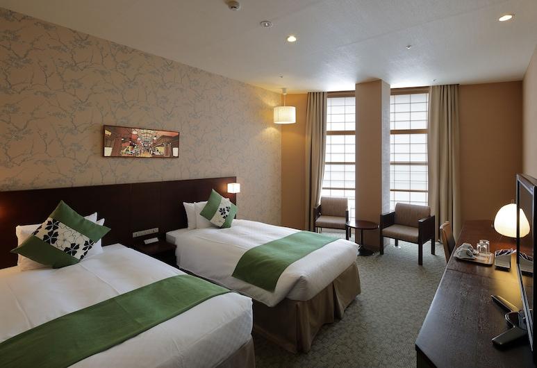 京都河原町站街高級景觀飯店, Kyoto, 豪華雙床房, 非吸煙房, 客房