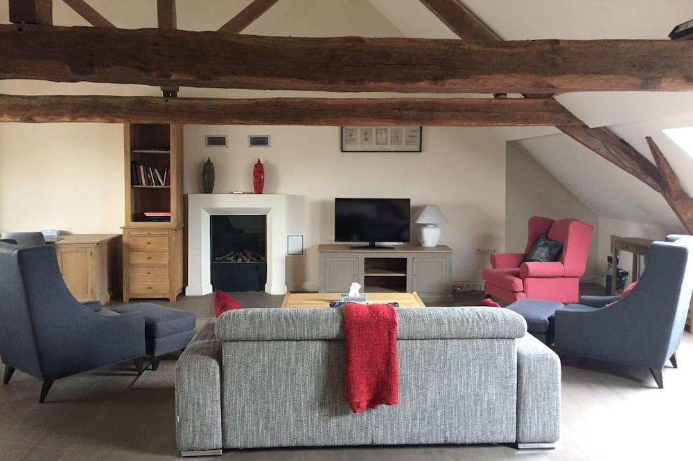 Apartamento de lujo, 2 habitaciones, cocina básica - Sala de estar