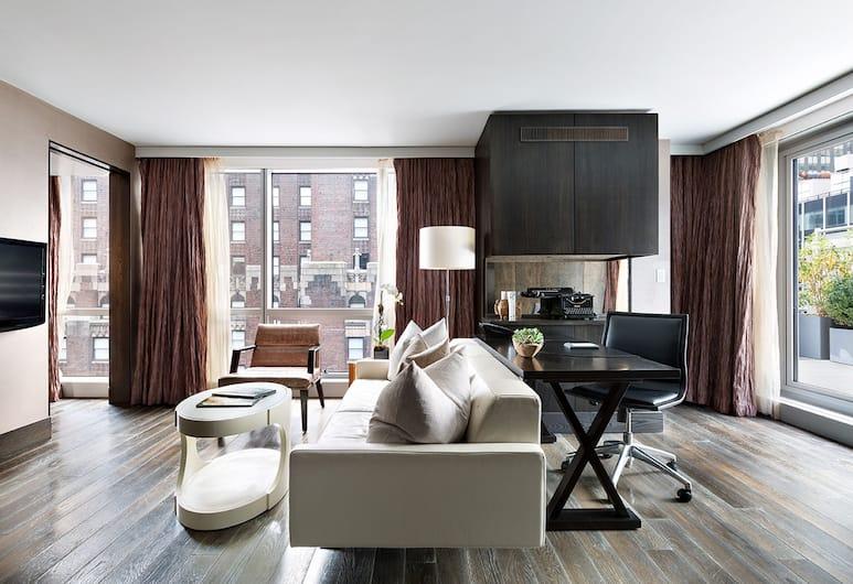 Hotel 48LEX New York, New York, Penthouse, 1 king (extra méretű) franciaágy, Nappali
