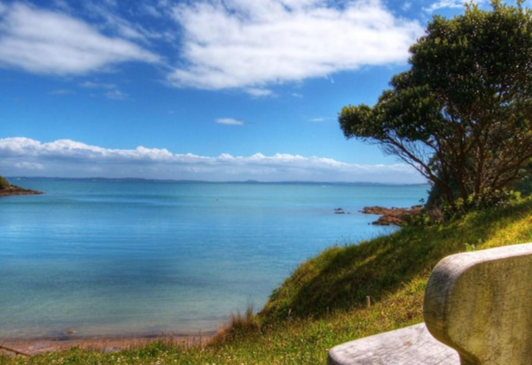 Palm Beach Bungalows, Isla Waiheke, Playa