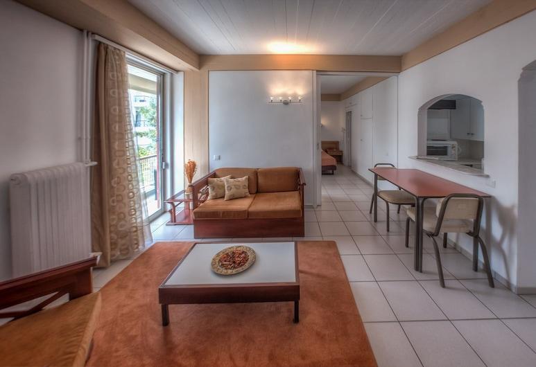 Zina Hotel Apartments, Glyfada, Standard-Apartment, 1 Schlafzimmer, Wohnzimmer