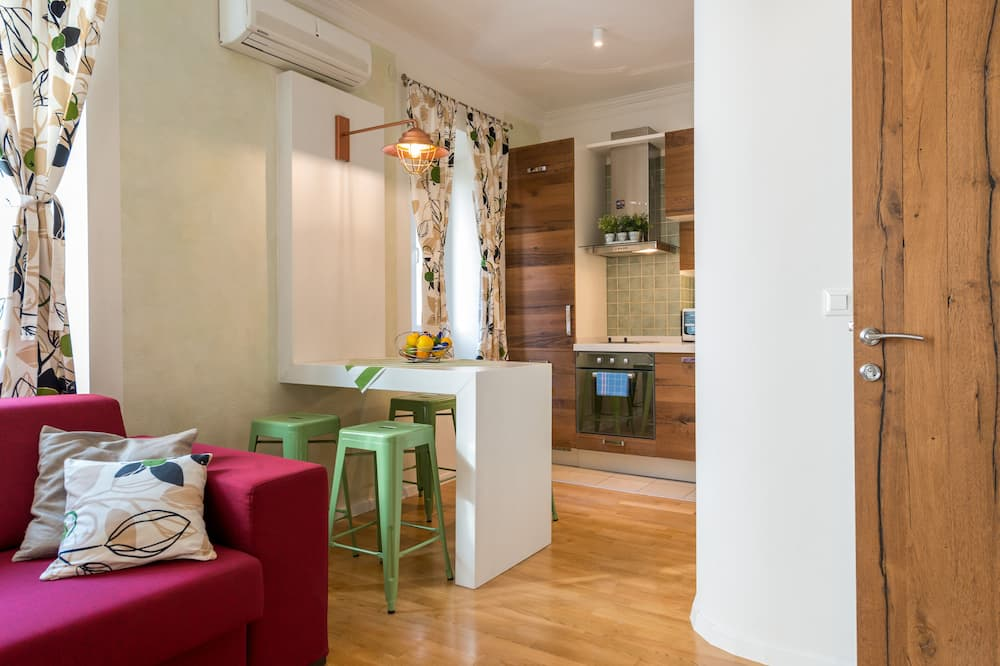 City Apartment, 1 Bedroom, Kitchen - Living Area